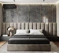 Кровать, мягкая стеновая панель VERONA