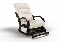 Кресло маятниковое Родос Глайдер (экокожа белый цвет)