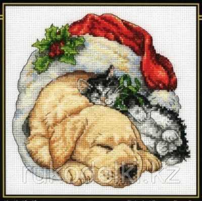 """Набор для вышивания крестом """"Christmas Morning Pets"""""""