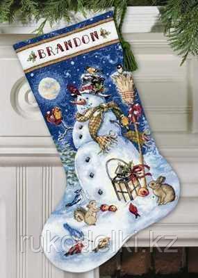 """Набор для вышивания крестом """"Сапожок. Снеговик и друзья"""""""