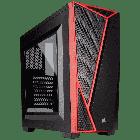 Компьютерный корпус Corsair Carbide Series SPEC 04 ATX/Micro-ATX/Mini-ITX, Черный/красные вставки