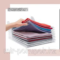Система хранения одежды (прозрачный органайзер для футболок)