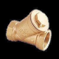 Фильтр латунный косой муфтовый 20(3/4) PN16 грубой очистки уп 8/64 вес 200 г FW.210.05 Premiu