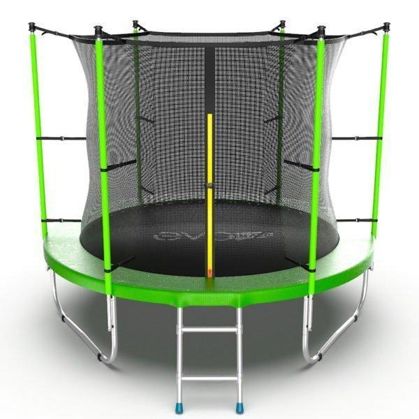 Батут с внутренней сеткой и лестницей EVO JUMP Internal 8ft (Green) - фото 1
