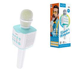 Микрофон караоке Bluetooth Hoco BK5, Blue