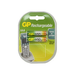 Аккумулятор GP, AAA, 1.2V, 2X650mAh