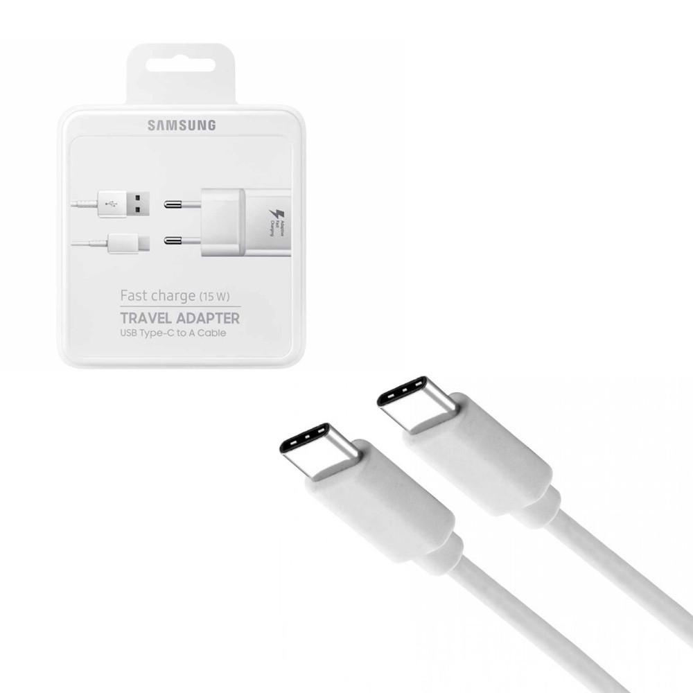 Сетевое зарядное устройство Samsung + кабель (Type-C to Type-C) (25W) Original , White