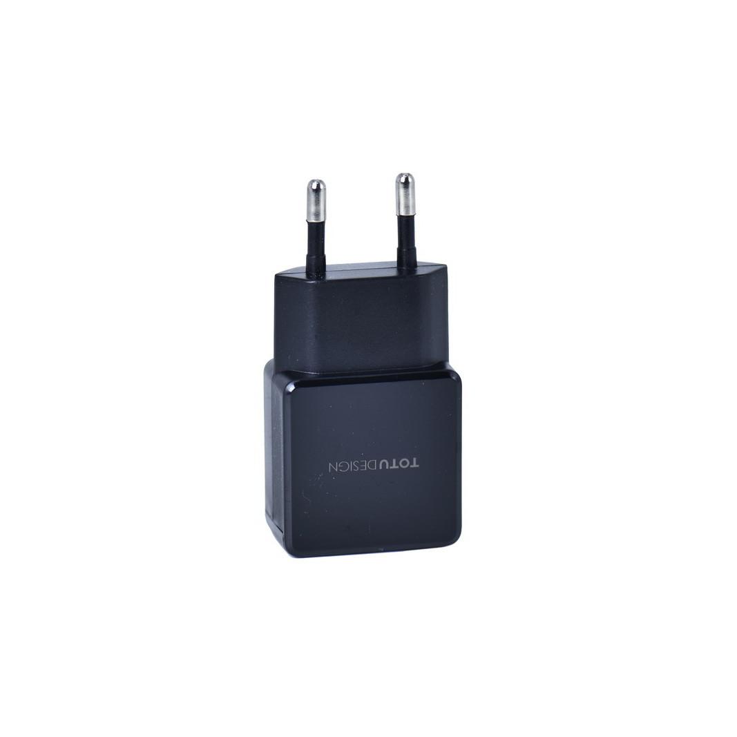Сетевое зарядное устройство Totu Design AC20 Yin Series 2XUSB 2.4A Black