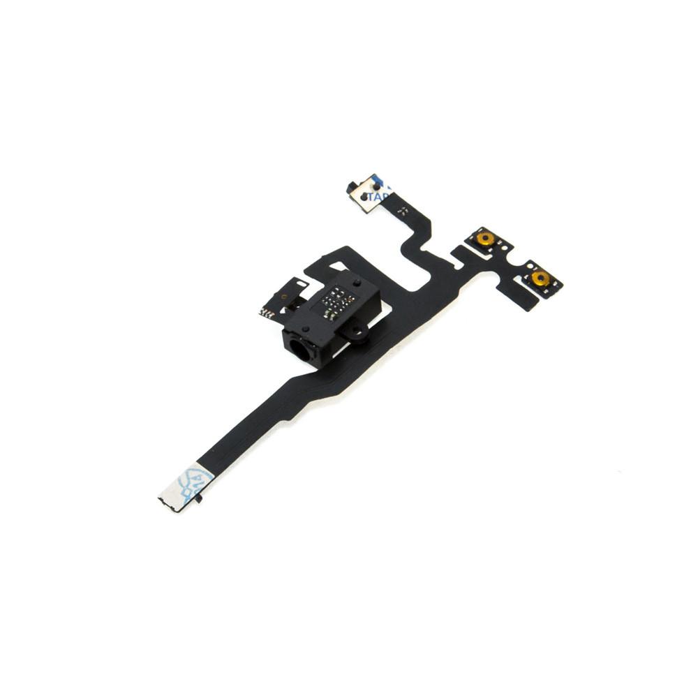 Шлейф Apple iPhone 4S на громкость с коннектором гарнитуры Black (48)