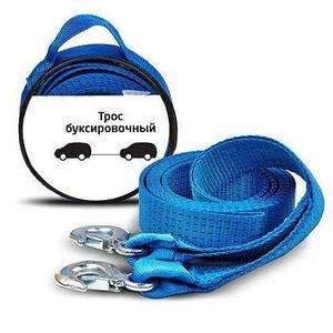 Трос буксировочный с крюками в сумке {строп-текстильная лента, нагрузка до 6 тонн}