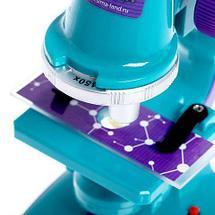 Микроскоп детский с подсветкой [увеличение до 450х] с набором аксессуаров «Биология» ЭВРИКИ, фото 3
