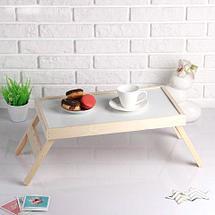 Столик складной деревянный для завтрака «Утро доброе» (Красное дерево), фото 2