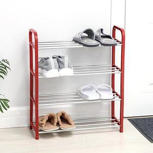 Полка обувная в 4 яруса «Доляна» {50 x 19 x 60 см} (Красный)