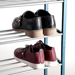 Полка обувная в 4 яруса «Доляна» {50 x 19 x 60 см} (Синий)