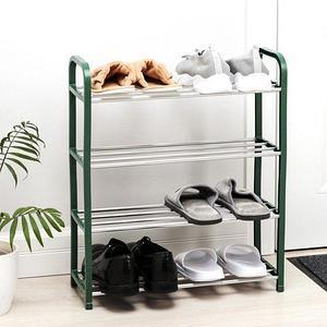 Полка обувная в 4 яруса «Доляна» {50 x 19 x 60 см} (Зеленый)