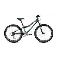 "Велосипед FORWARD TITAN 24 1.2 (24"" 6 ск. рост 12"") 2020-2021, темно-серый/бирюзовый, RBKW1J146003"