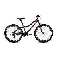"""Велосипед FORWARD TITAN 24 1.2 (24"""" 6 ск. рост 12"""") 2020-2021, черный/ярко-оранжевый, RBKW1J146002"""