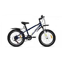 """Велосипед FORWARD UNIT 20 2.2 (20"""" 6 ск. рост 10.5"""") 2020-2021, темно-синий/белый, RBKW11N06003"""