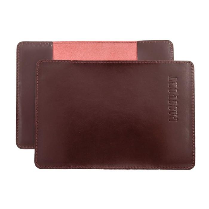 Обложка для паспорта, н/к, цвет бордо