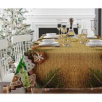 Скатерть с пропиткой «Новогодние сладости», 120х140 см, оксфорд, 240 г/м2, 100% полиэстер