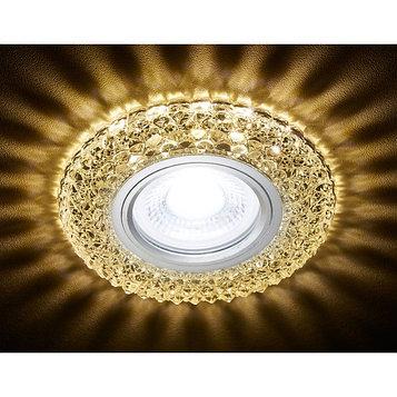 Светильник встраиваемый светодиодный, G5.3, 3Вт, цвет хром, d=60 мм