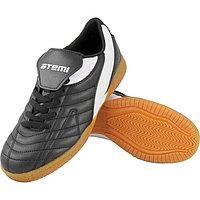 Футбольные бутсы для зала EVA, цвет чёрно-белый, синтетическая кожа, размер 30