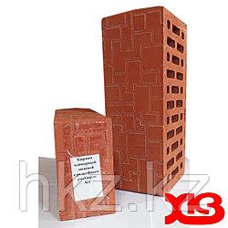 Лицевой кирпич красный керамический одинарный марка М-150 с рисунком №5