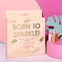 Набор мелких блёсток для декора ногтей Born to sparkle, 12 цветов