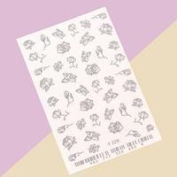 Слайдер-дизайн для ногтей 'Цветы'