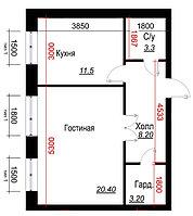 1 комнатная квартира в ЖК  Arai Apartments 46.6 м², фото 1