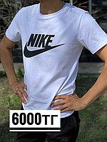 Футболка Nike белая чер надпись 3135, фото 1