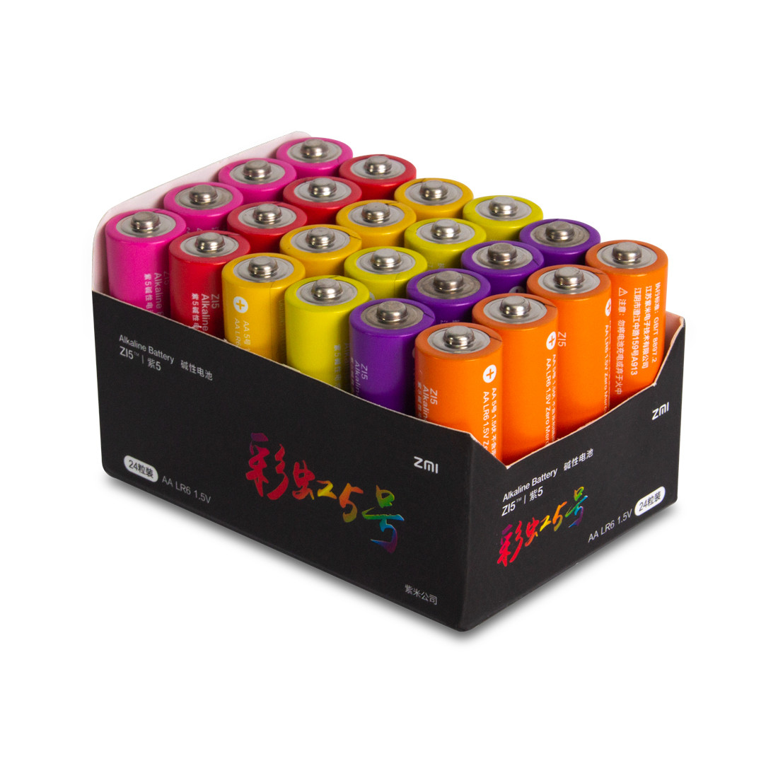 Батарейки Xiaomi ZMI AA524 ZI5 Rainbow 5 AA 24 шт в упаковке