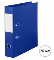 Папка-регистратор Deluxe Office, А4, ширина корешка 70 мм, синяя, двусторонняя