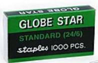 Скобы для степлера Globe Star №24/6, стальные, 1000 шт