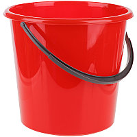 Ведро пластиковое, пищевое OfficeClean, мерная шкала, красное, 5л