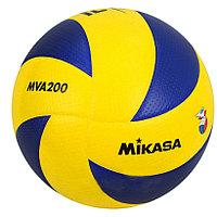 Мяч волейбольный Mikasa MVA200 кожаный
