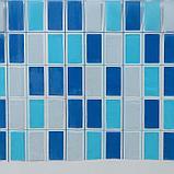 Штора для ванной комнаты Доляна «Мозайка синяя», 180×180 см, PVC, фото 2