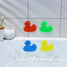 Мини-коврик для ванны «Уточка», 9×11 см, цвет МИКС