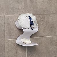 Держатель для ванных принадлежностей на липучке «Волна», 12×11×14 см, цвет МИКС