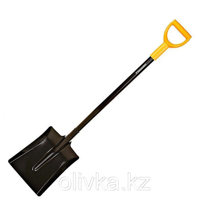 Лопата совковая, металлический черенок, с ручкой