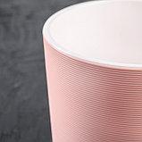 Кашпо со вставкой «Лион», 2 л, цвет розовый-белый, фото 2