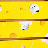 """Кашпо флористическое """"Мышка и сыр"""", 25×20×15 см, фото 3"""