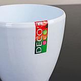 Кашпо со вставкой «Деко Твин», 1,5 л, цвет белый, фото 4