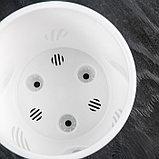Кашпо со вставкой «Лион», 2 л, цвет пудровый-белый, фото 4