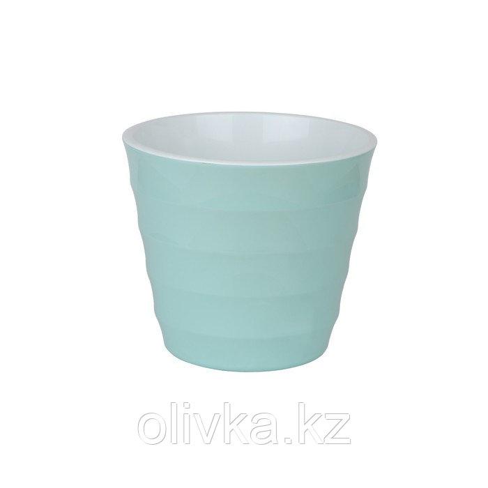 Пластиковый горшок с вкладкой «Лаура», цвет мята