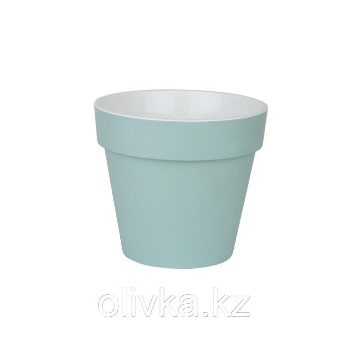 Пластиковый горшок с вкладкой «Протея», цвет мята