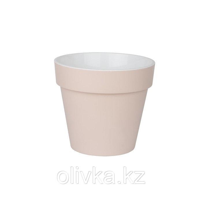 Пластиковый горшок с вкладкой «Протея», цвет пудра
