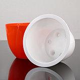Кашпо со вставкой «Орион», 2,3 л, цвет оранжевый, фото 3