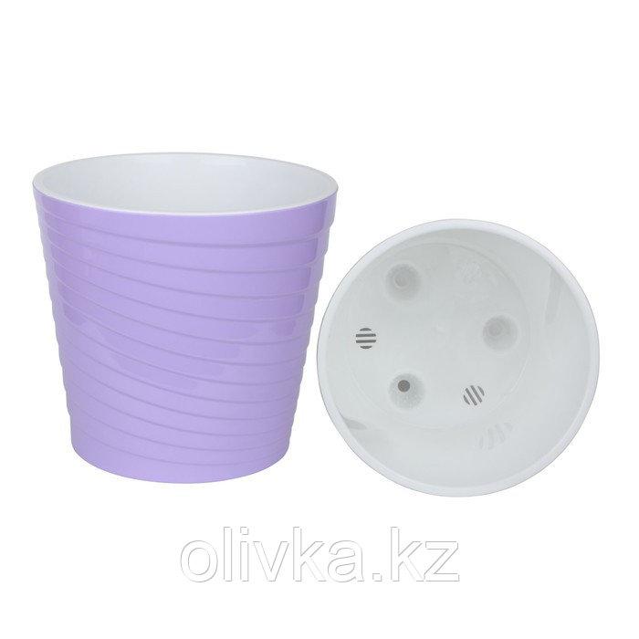 Пластиковый горшок с вкладкой «Эйс», 2,7 л, d=17 см, цвет лавандовый