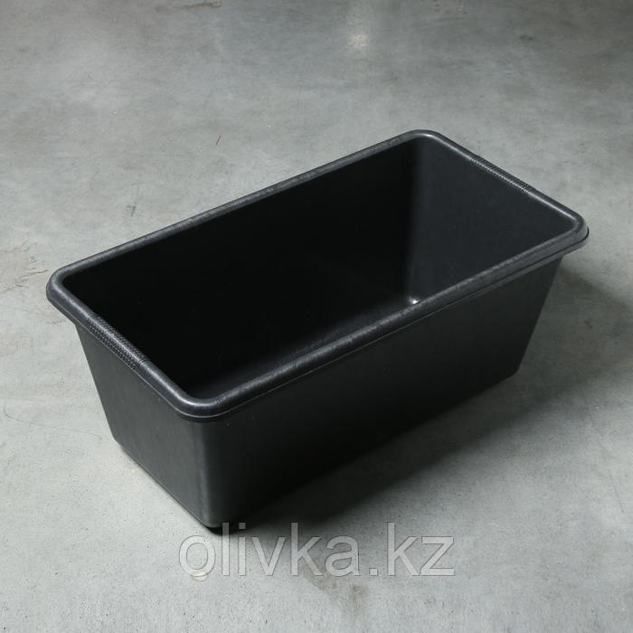Таз строительный прямоугольный, 60 л, 721 × 414 × 285 мм, пластик
